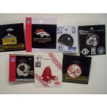 Asst. NFL, MLB, NHL, & NBA Logo Pins