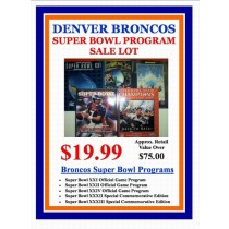 Denver Broncos Super Bowl Program Lot
