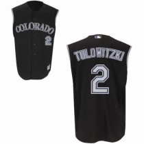 Authentic Majestic Player Jerseys (Black Vest)