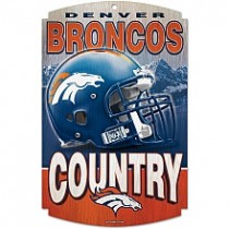 Bronco Wooden Sign-- Current Logo