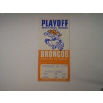 12-24-77 (1st Playoff Game in Denver)