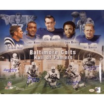 BALTIMORE COLTS HALL OF FAMERS (Framed)