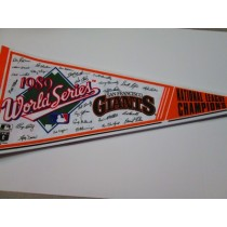 1989 NL CHAMPS GIANTS w/sigs