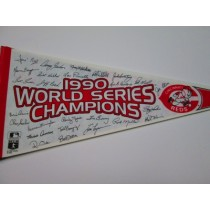 1990 WS CHAMP REDS w/Sigs