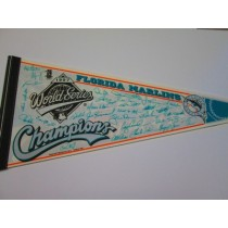 1997 WS CHAMPS MARLINS sigs