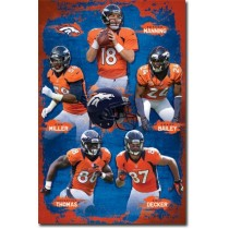 DENVER BRONCOS TEAM COLLAGE