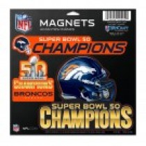 Magnet Sheet Super Bowl 50 Champions